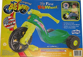 Original Big Wheel Boys Green Empire 9""